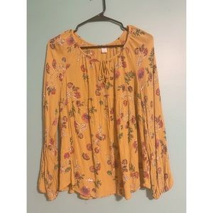 Old Navy Yellow & Floral Blouse
